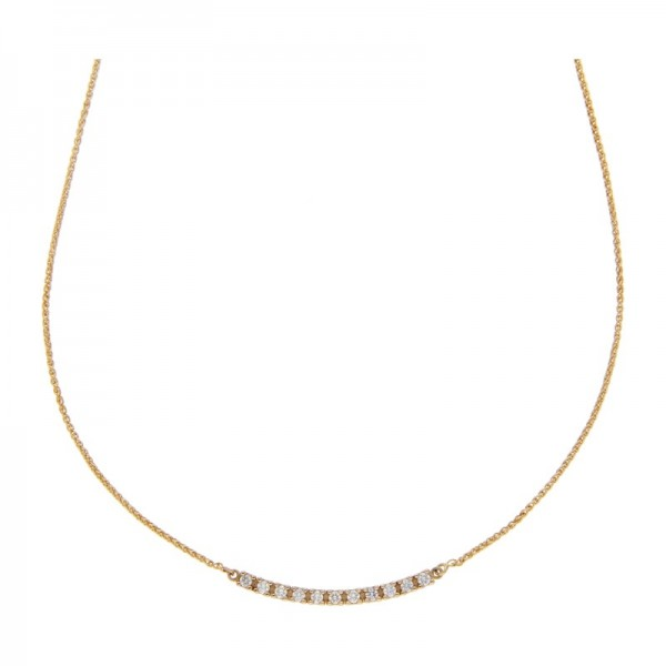 Diamant Collier 0,20 ct w-vs 585 Gold