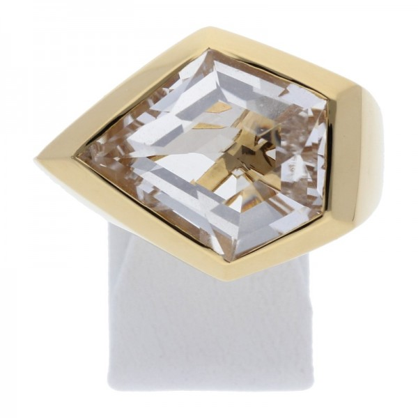 Bergkristall Ring 750 Gold