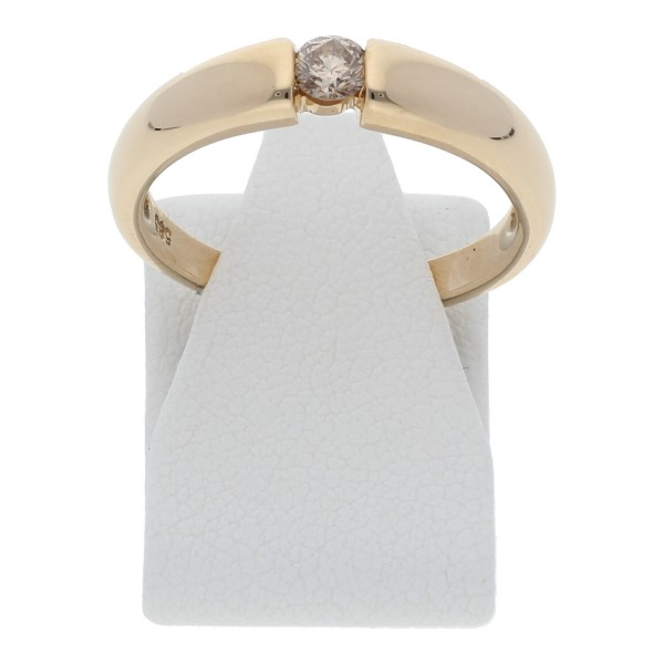 Solitär Diamant Brillant Ring 0,10 ct 585 Gold