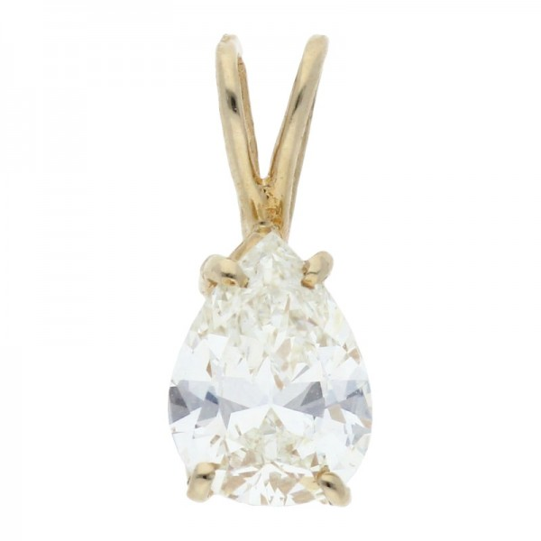 Diamant Tropfen 0,87 ct 585 Gold